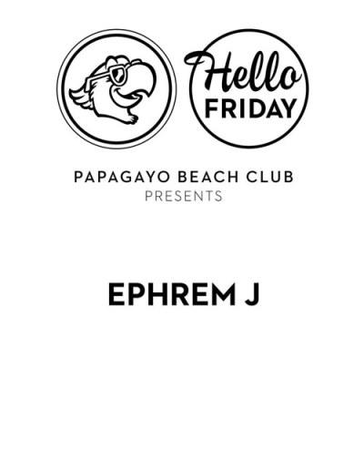Hellow Friday with Ephrem J at Papagayo Curacao