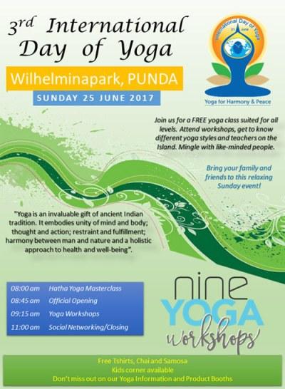 International Day of Yoga at Wilhelmina Park Curacao
