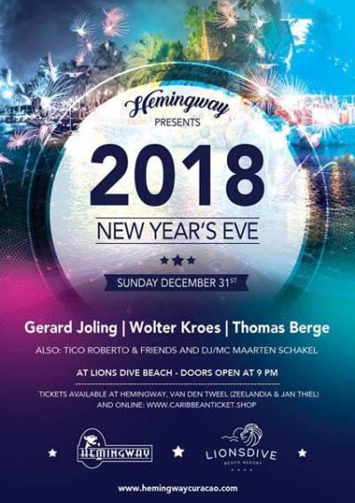 New Years Eve at Hemingway Beach Bar Curacao