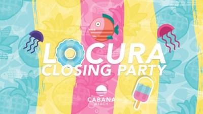Locura closing party at Cabana Beach Curacao