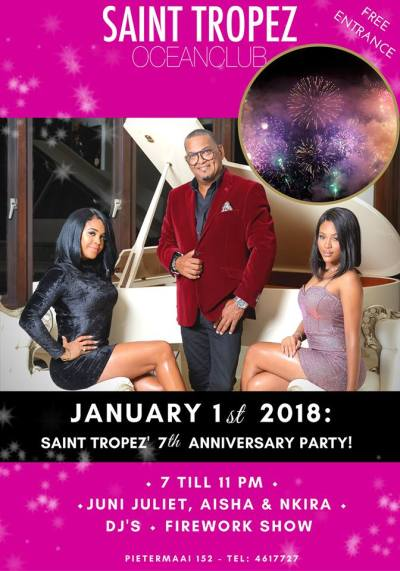 St Tropez Curacao 7 Year Anniversary