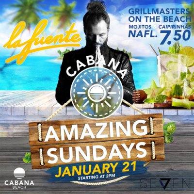 Amazing Sunday with DJ La Fuente at Cabana Beach Curacao