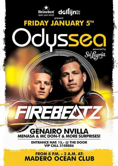 Odyssea with Firebeatz at Madero Ocean Club Curacao
