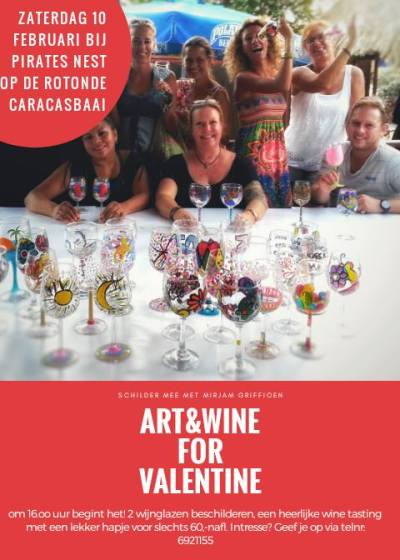Art and Wine for Valentine at Pirates Nest Curacao