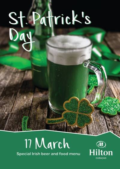 St Patrick Day at Hilton Curacao