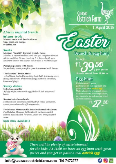 Easter Brunch and Egg Hunt at Curacao Ostrich Farm