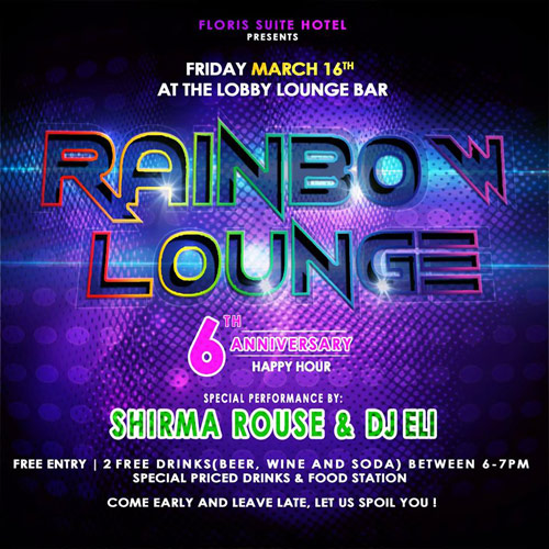 Rainbow Lounge 6-year anniversary at Floris Suite Hotel Curacao