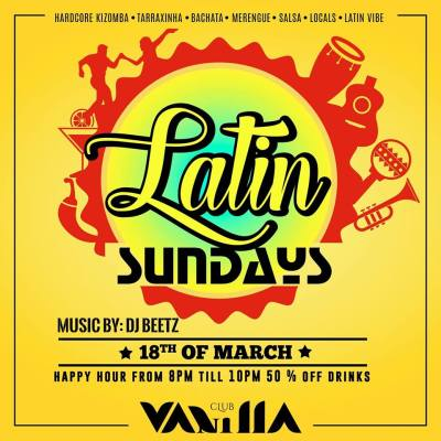 Latin Sundays at Club Vanilla Curacao