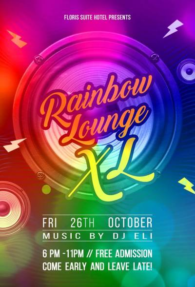 Rainbow Lounge XL at Floris Suite Hotel Curacao