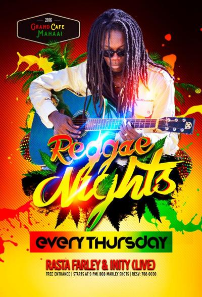 Reggae Nights with Rasta Farley at Cafe Mahaai Curacao