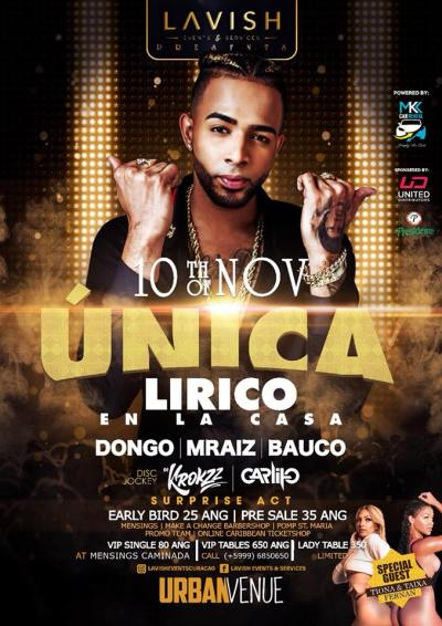 Unica with Lirico en la Casa at Urban Venue Curacao