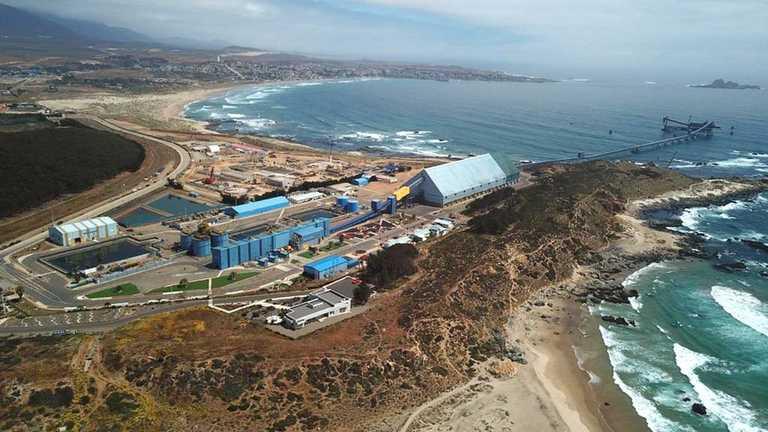 A paso firme avanza planta desalinizadora de Minera Los Pelambres