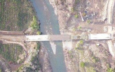 Un 75% de avance presentan obras de puente que conectará Quilleco y Santa Bárbara