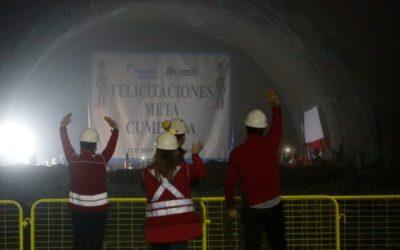 Hoy fue el último encuentro de túneles queconectan la extensión de la Línea 3 del Metro de Santiago