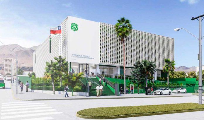MOP dio a conocer diseño de las obras de reposición del cuartel policialSubcomisaria Playa Blanca de Antofagasta