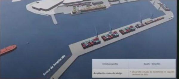 Puerto Antofagasta ejecuta estudio para extender su molo de abrigo