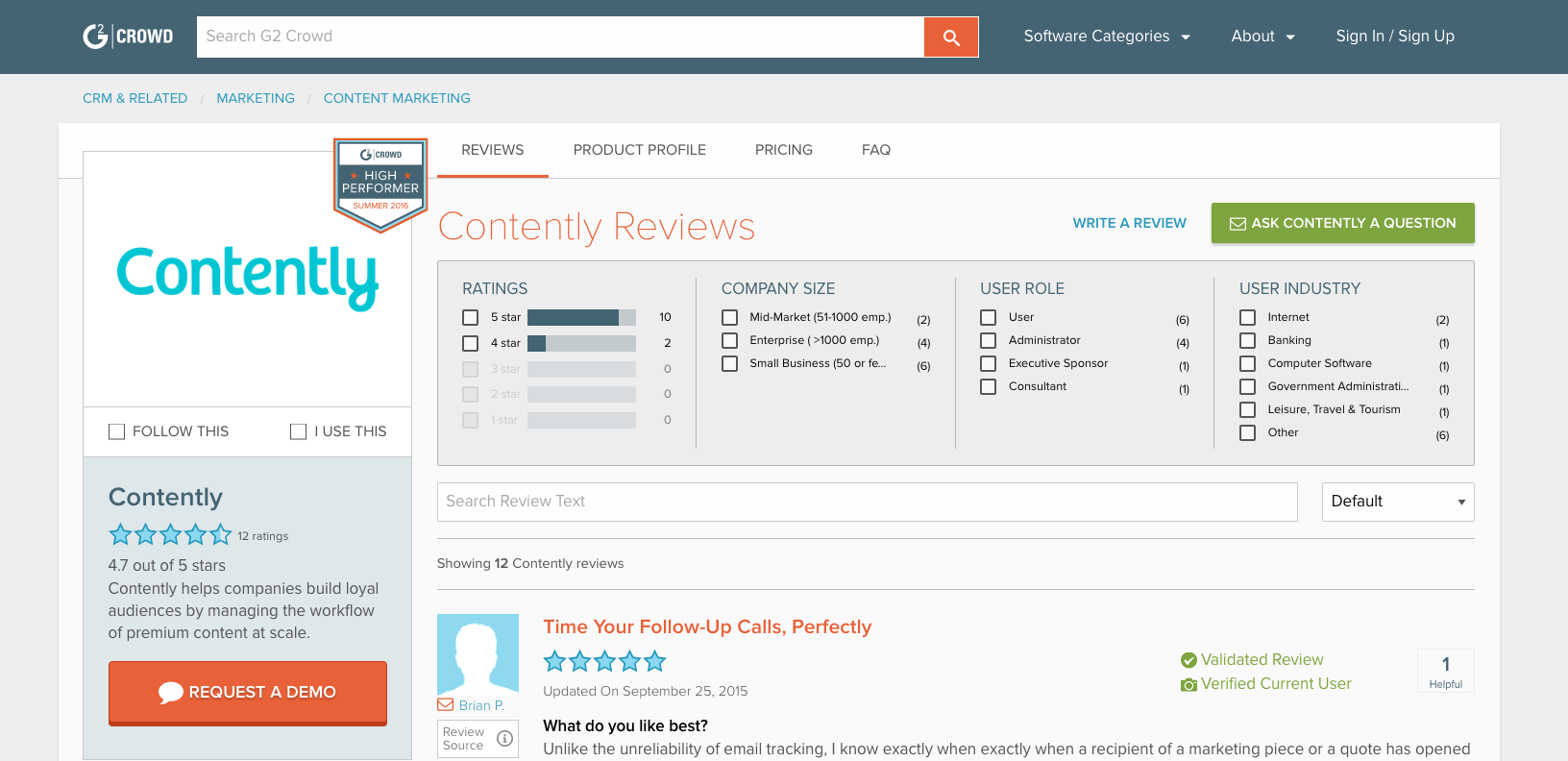 content marketing tools: Contently