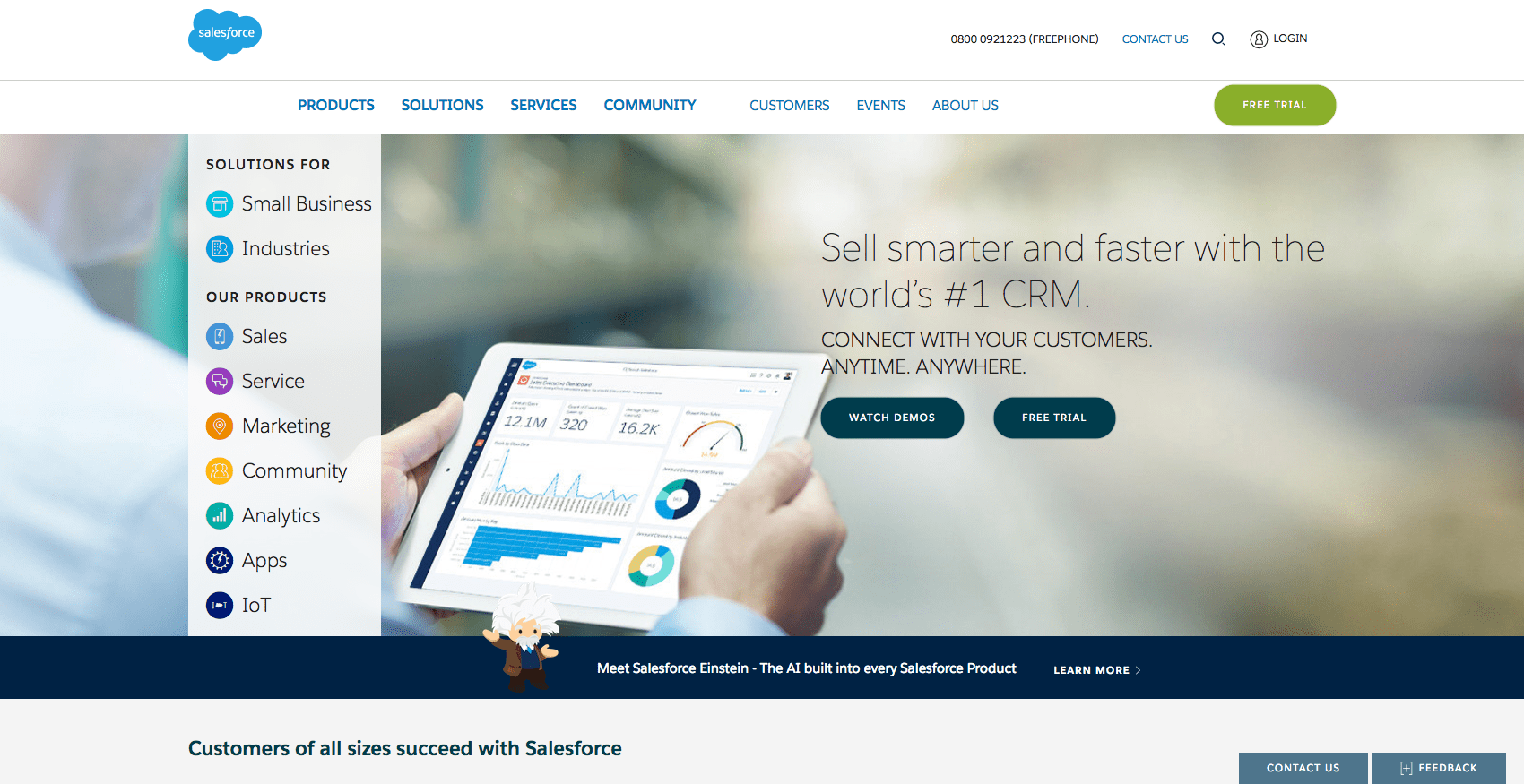 Salesforce, predictably, offers some great content marketing examples