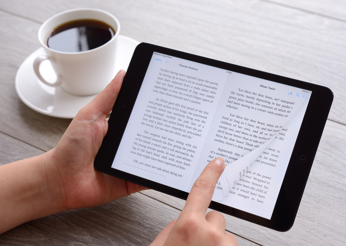 ebook template with coffee