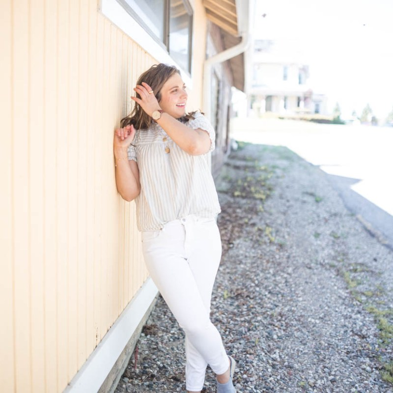 Ruffle Neck Top and Health Update