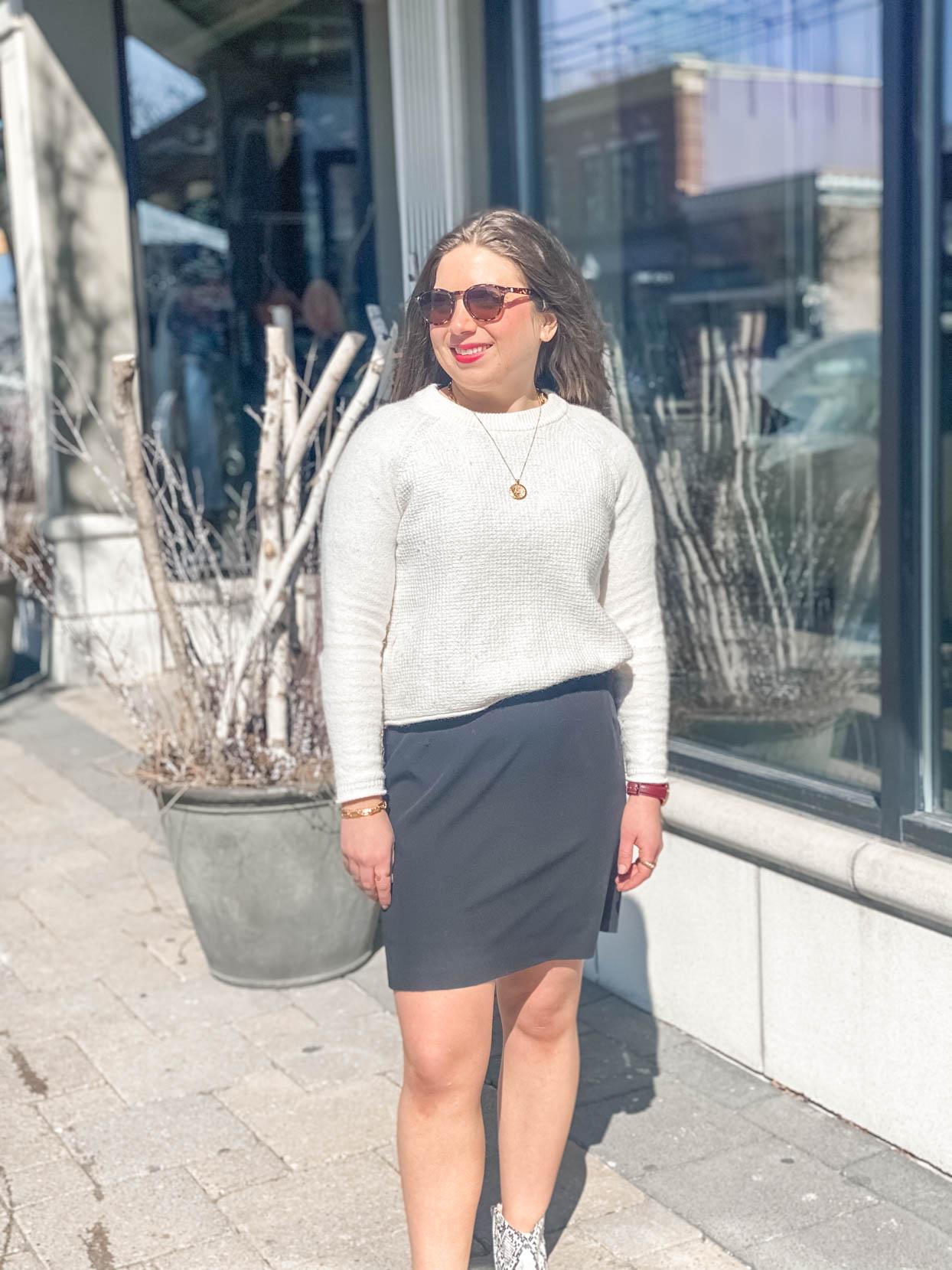 Keynote Dress and Waffle Sweater