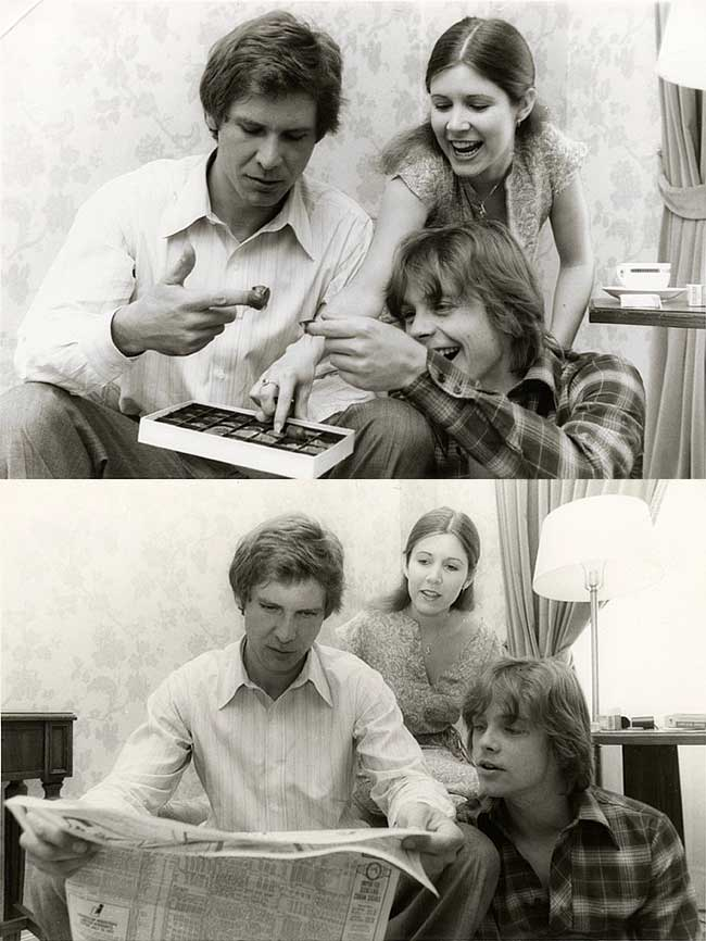 Harrison-Ford-Carrie-Fisher-and-Mark-Hamill-on-the-set-of-Star-Wars (1)