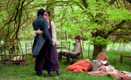John Keats and Fanny Brawne dance in Bright Star