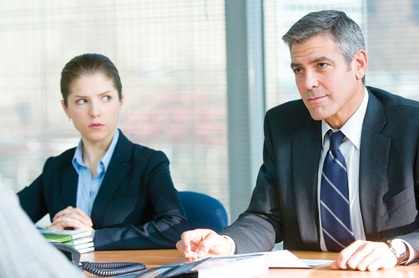 Anna Kendrick and George Clooney in Up in the Air.