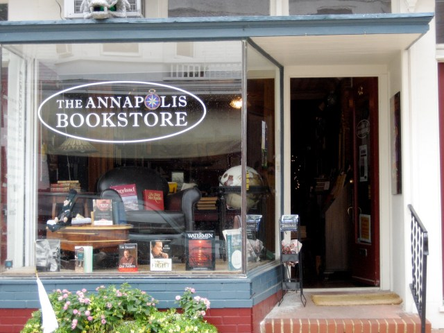 """The """"rabbit hole"""".  officially known as the Annapolis Bookstore."""