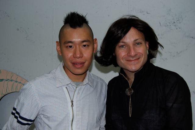 Photograph of Betsey Geffen & Whitney curator Christopher Lew, New York. Courtesy of Gallery Diet, Miami, Florida.