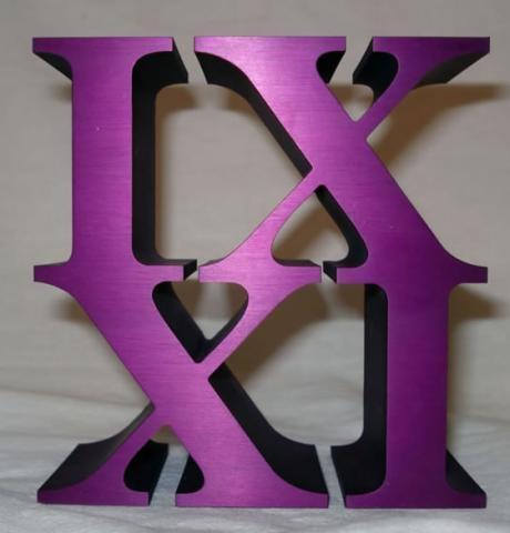 IX XI (Nine Eleven)2010, Aluminum, 3' x 3' x 1.5