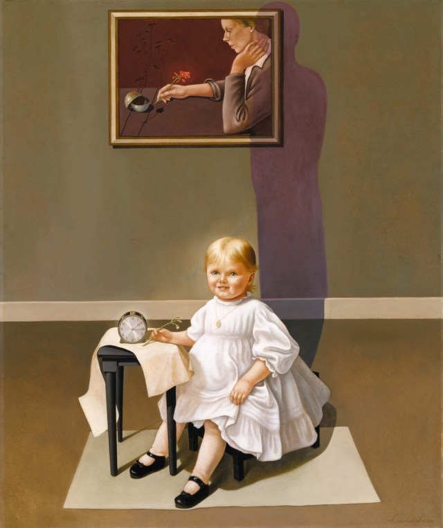 Double Portrait of the Artist in Time, Helen Lundeberg, oil on fiberboard, 1935, Chicago, Illinois, 1908 47 3/4 x 40 in. Smithsonian American Art Museum