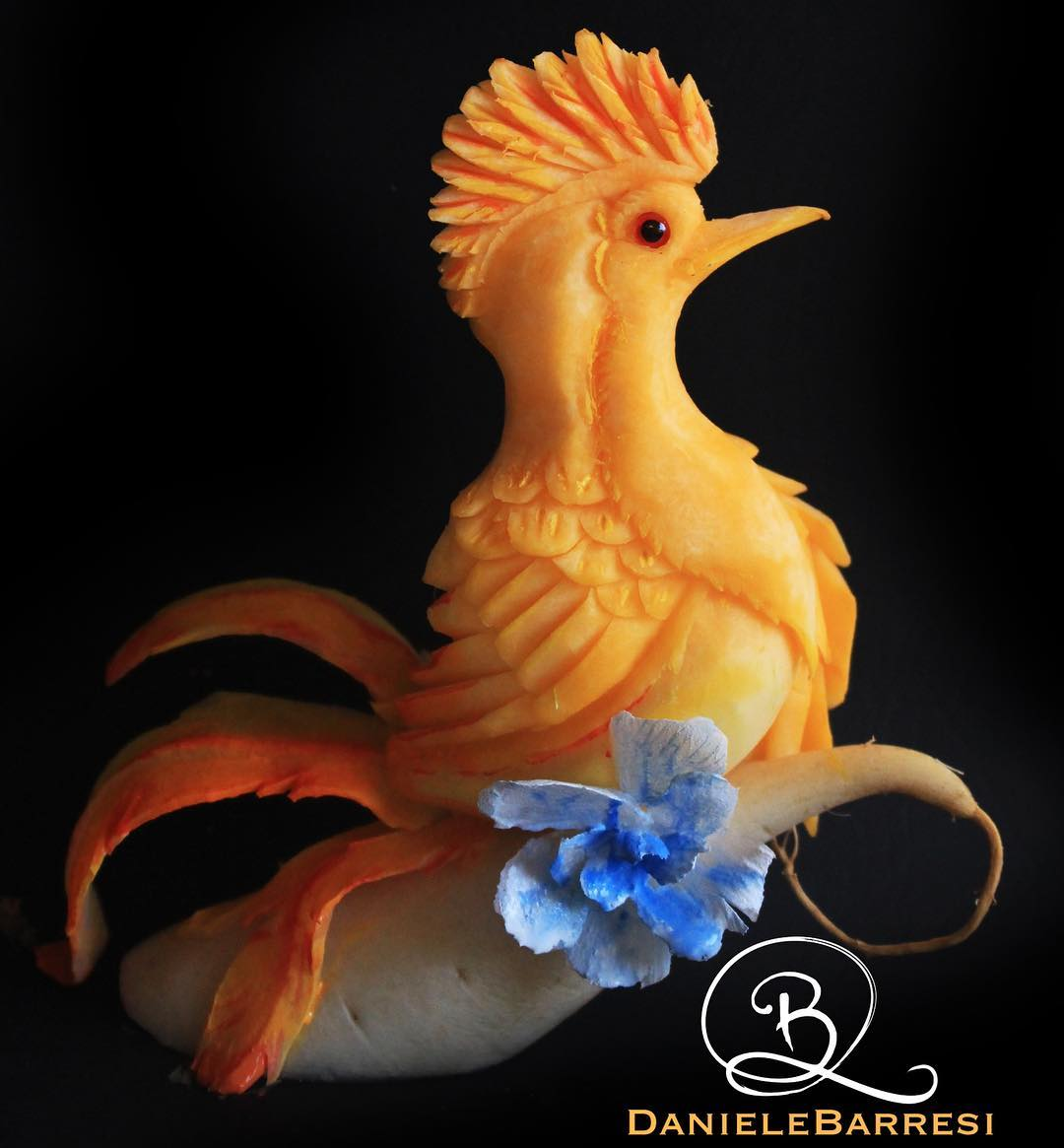 daniele barresi, award winning carving designer, food carving, food carving designer, sydney artist