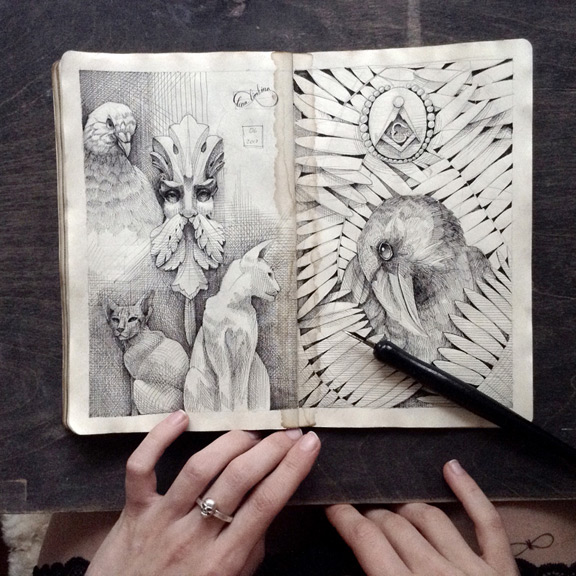 a sketch book filled with mystery by elena limkina