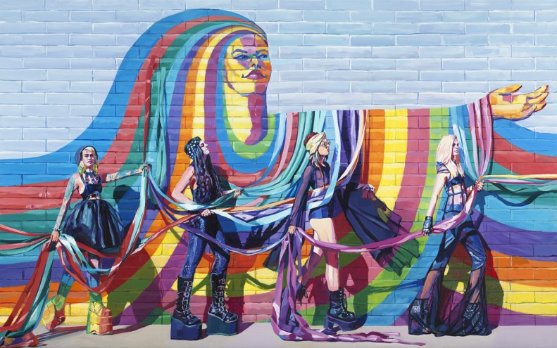 rainbow ribbon magic, contemporary artist, san diego artist, women empowerment, women artists, spectrum Miami, top women artists, curators of quirk, reilly rebello, melissande rebello