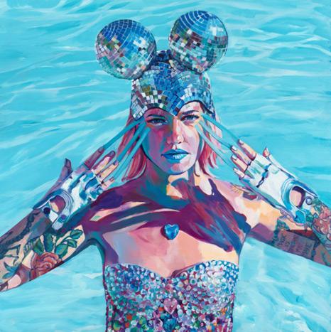 rainbow ribbon magic, contemporary artist, san diego artist, women empowerment, women artists, spectrum Miami, top women artists, curators of quirk, reilly rebello, melissande rebello