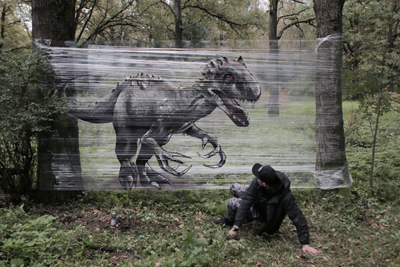 evgeny ches takes graffiti to the wild outdoors