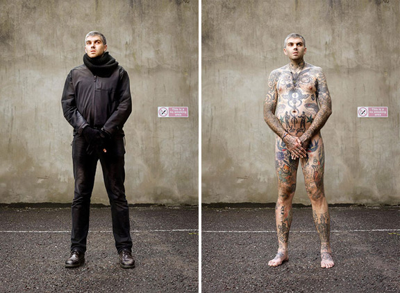 covered - a photo series that uncovers the tattoos you can't see