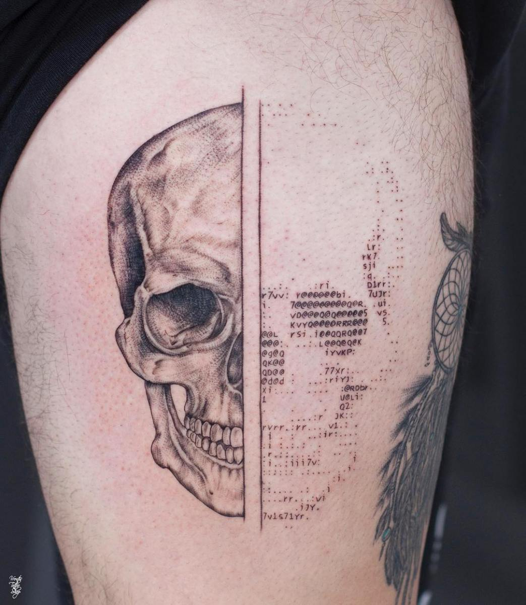 ascii art tattoos by tattoo artist andreas vrontis that you wished you had