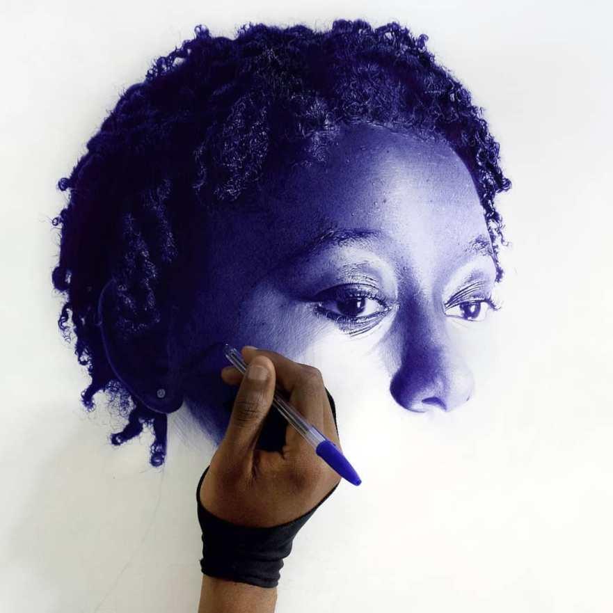 realistic art, hyper realistic art, ballpoint pen art