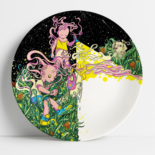 art plates, limited edition, limited edition art, graphic design, upcoming artists, migrant workers, daily meals