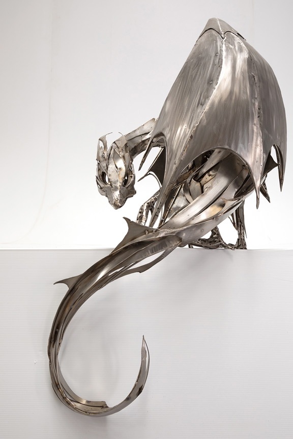 metal art famous sculptures recycling art Georgie Seccull