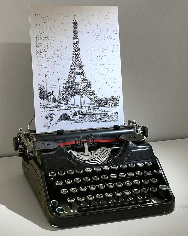 james cook, typewriter art, typewriter artist, British artist