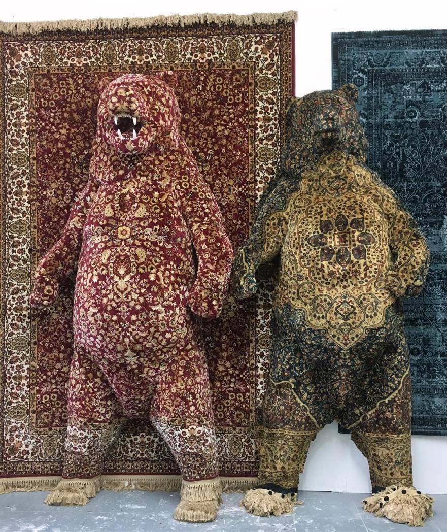 animal sculpture, animal art, persian rugs, curator, curators of quirk, debbie lawson