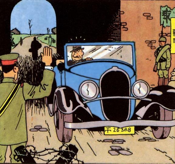 Tintin olds bugatti