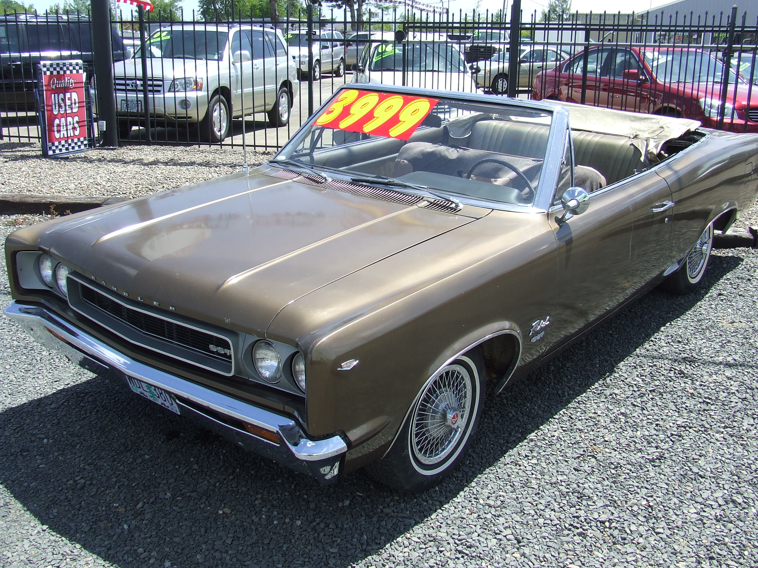 Cc capsule 1967 rambler rebel sst convertible rambler for American classic motors for sale