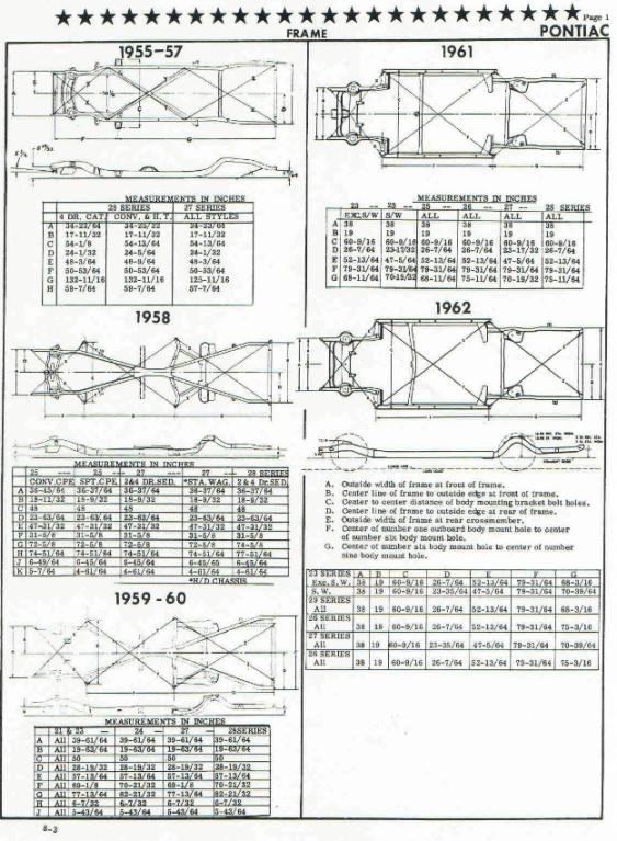 X Frame Pontiac 55 64