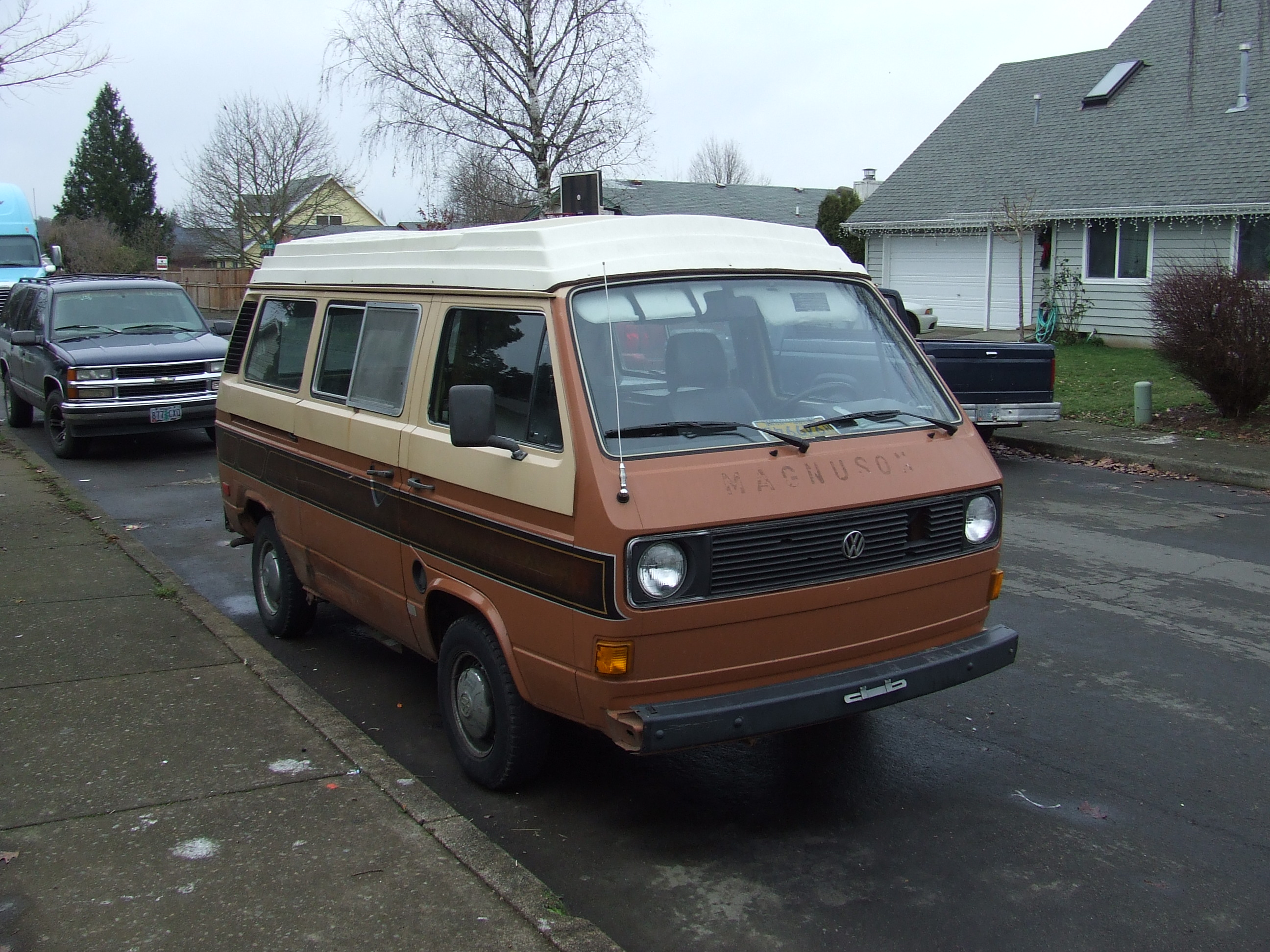 The Van Was A 1980 Still Air Cooled ASI Riviera Camper It Pretty Beat Up On Outside But Interior Very Nice