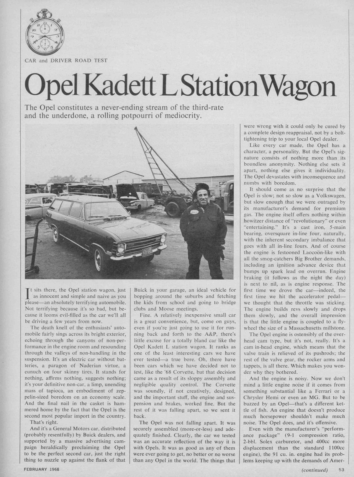 The Opel Kadett Asassination By Car And Driver