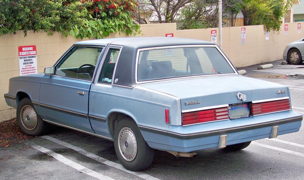 CC Outtake: 1984 Dodge Aries SE – Mmmmm, K